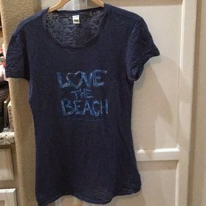 Tops - Love the Beach burnout T-shirt Monterey Bay Cali